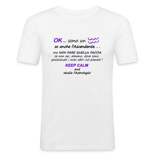 ACQUARIO - Maglietta aderente da uomo