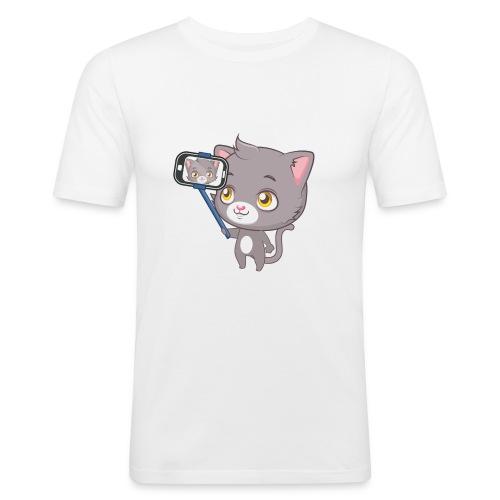 Cute cat tee - Men's Slim Fit T-Shirt