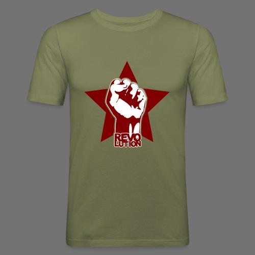 Vallankumous - Miesten tyköistuva t-paita