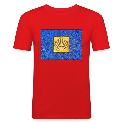 Scallop Shell Camino de Santiago - Men's Slim Fit T-Shirt