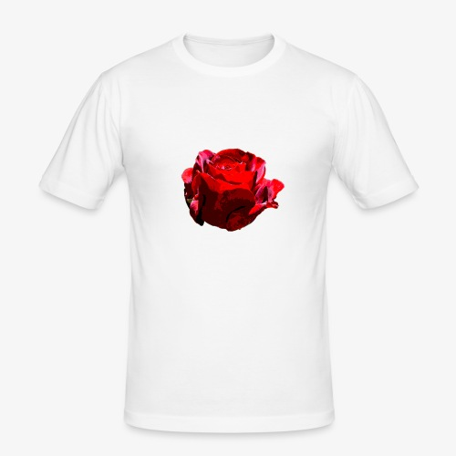 Red Rose - Männer Slim Fit T-Shirt