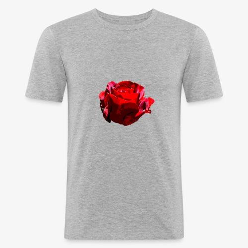 Red Rose - Männer Slim Fit T-Shirt