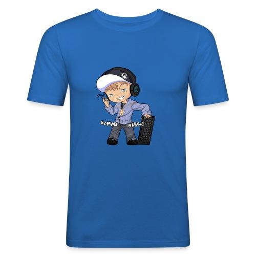 Kapuze Komma Näher mit Text by ShinaiShadow2 png - Männer Slim Fit T-Shirt