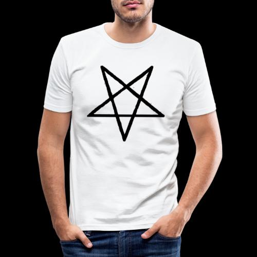 Pentagram2 png - Männer Slim Fit T-Shirt