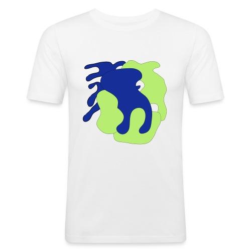 Macchie_di_colore-ai - Maglietta aderente da uomo