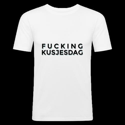 FUCKING KUSJESDAG (zwart) - slim fit T-shirt