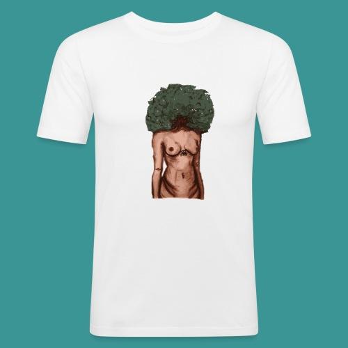womb woman - Mannen slim fit T-shirt