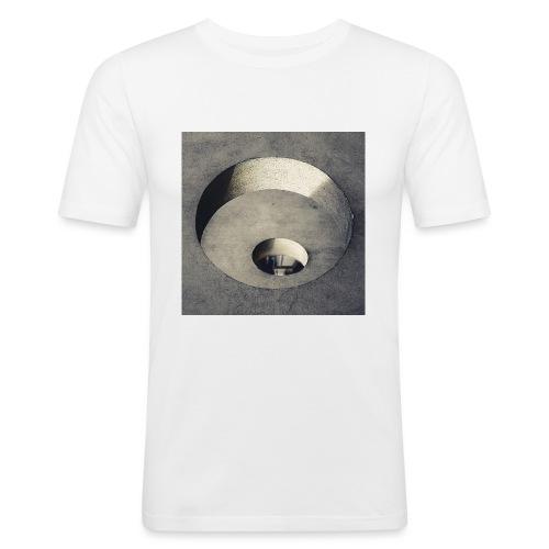 rings of holes - Maglietta aderente da uomo