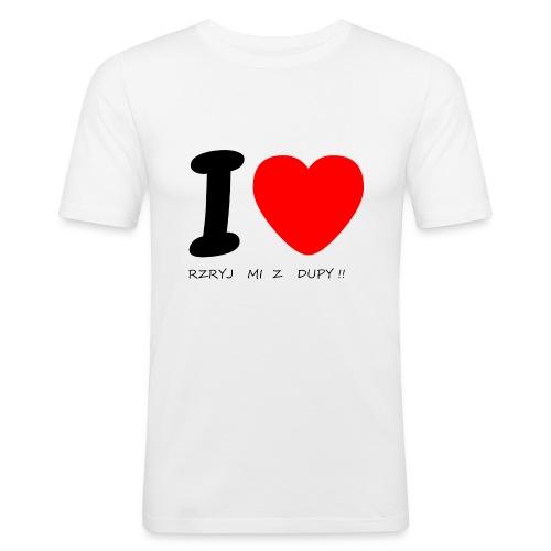 Bluzka damska - Obcisła koszulka męska