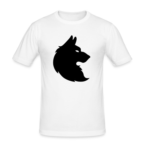 wolf_trace_by_geulach-d7ka4tu_-1--png - Mannen slim fit T-shirt