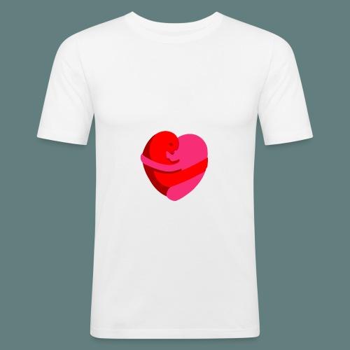 hearts hug - Maglietta aderente da uomo