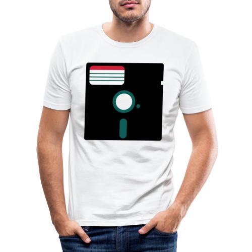 5 1/4 inch floppy disk - Miesten tyköistuva t-paita