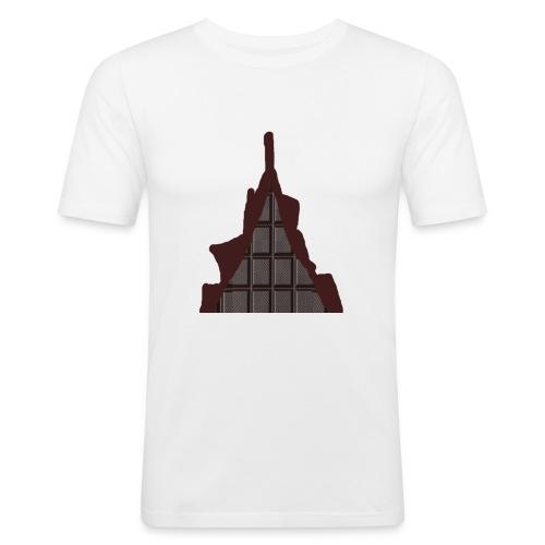 Vraiment, tablette de chocolat ! - T-shirt près du corps Homme