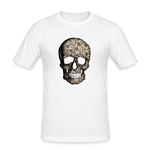 Skull Money Black - Camiseta ajustada hombre