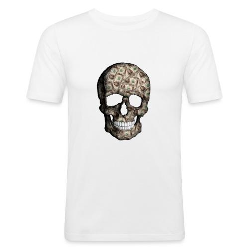 Skull Money Black - Camiseta ajustada hombre