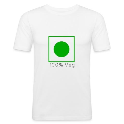 100veg-png - Slim Fit T-shirt herr