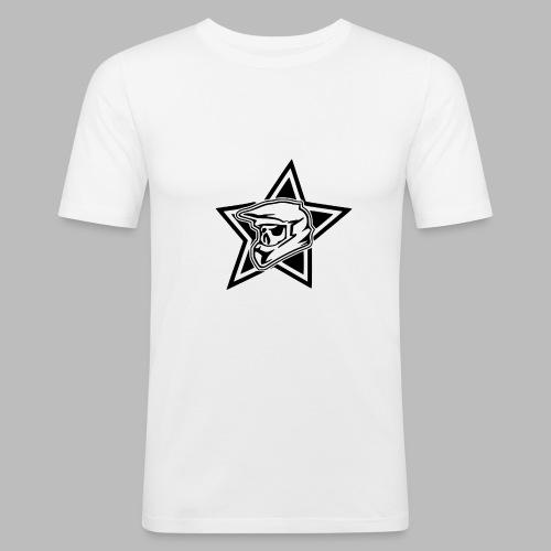 Motocross Helm - Männer Slim Fit T-Shirt
