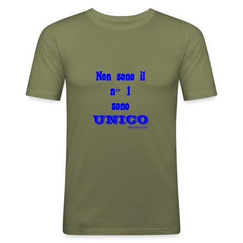 Unico #FRASIMTIME - Maglietta aderente da uomo