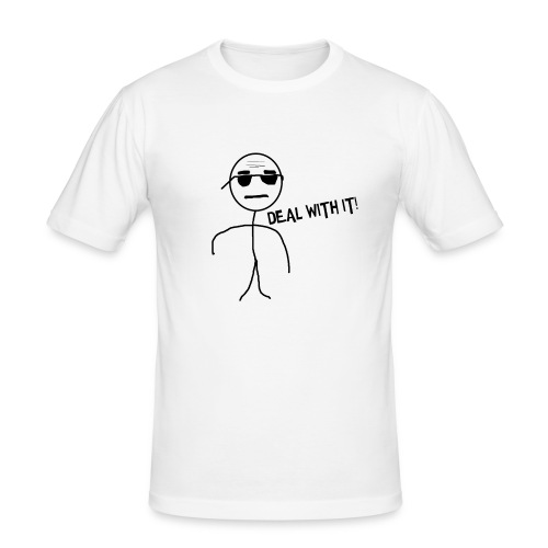 DEAL_WITH_IT--png - Mannen slim fit T-shirt