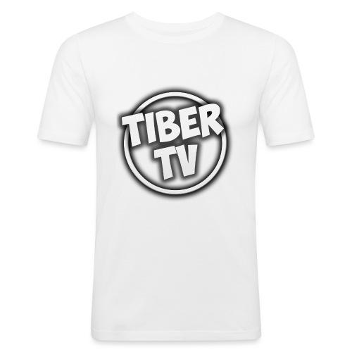TiberTV White phone case S5 Premium Case - Mannen slim fit T-shirt
