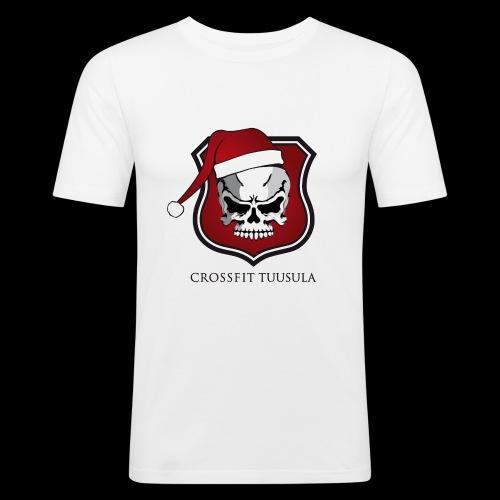 CrossFit Tuusula Xmas - Miesten tyköistuva t-paita