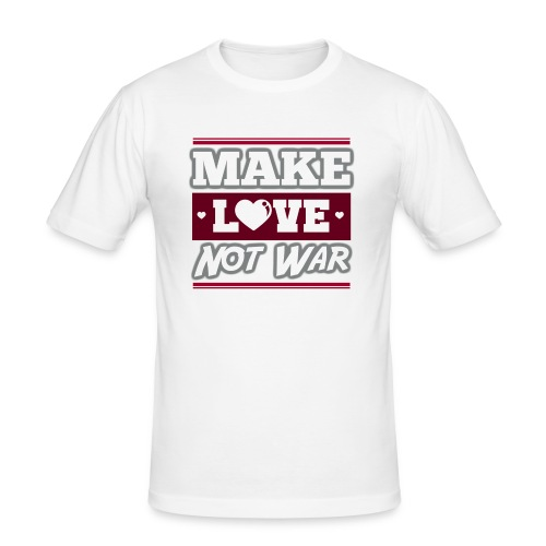 Make_love_not_war by Lattapon - Herre Slim Fit T-Shirt
