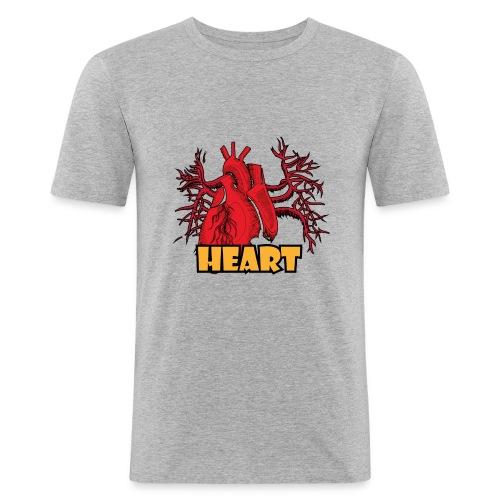 HEART - Maglietta aderente da uomo