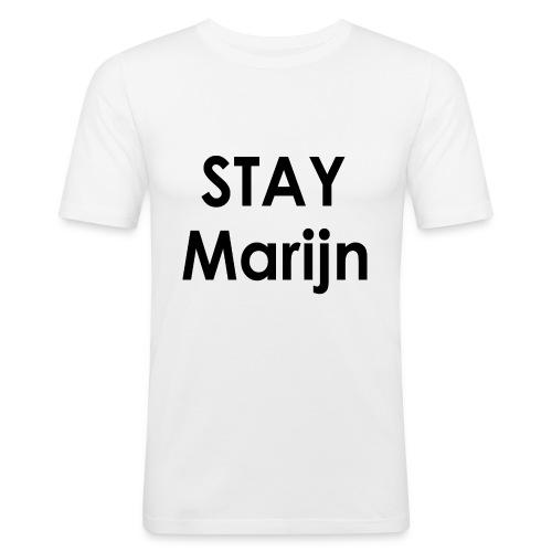stay marijn black - Mannen slim fit T-shirt