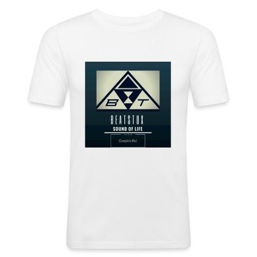 Beatstux - Maglietta aderente da uomo