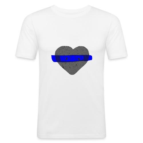 serduszko blu - Obcisła koszulka męska