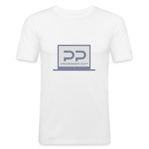 muismat met logo - Mannen slim fit T-shirt