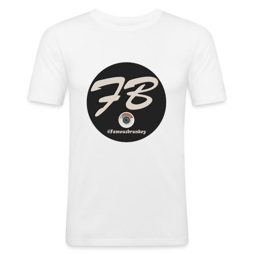 TSHIRT-INSTATUBER-METLOGO - Mannen slim fit T-shirt