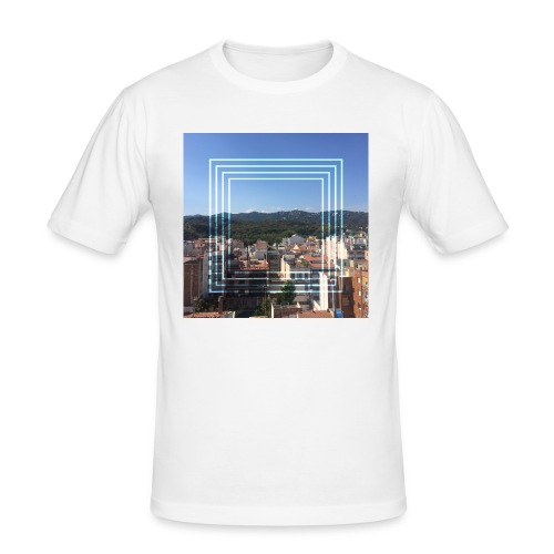 Calella in June - Mannen slim fit T-shirt