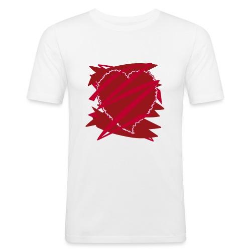 corazón enamorado, corazón roto - Camiseta ajustada hombre