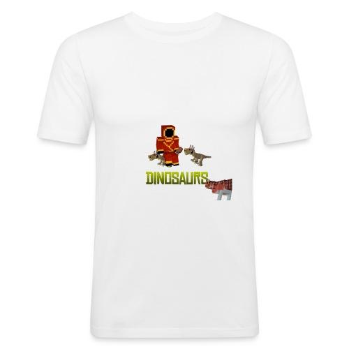 Minecraft Dinosaurs T-shirt - Mannen slim fit T-shirt