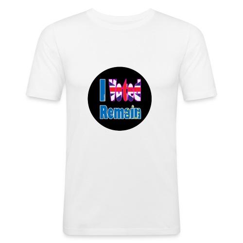 I Voted Remain badge EU Brexit referendum - Men's Slim Fit T-Shirt
