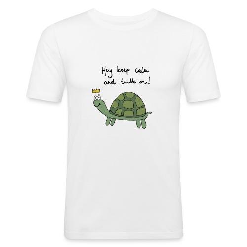 turtle - Mannen slim fit T-shirt