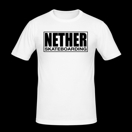 Nether Skateboarding T-shirt Black - Maglietta aderente da uomo