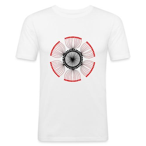 Red Poppy Seeds Mandala - Men's Slim Fit T-Shirt