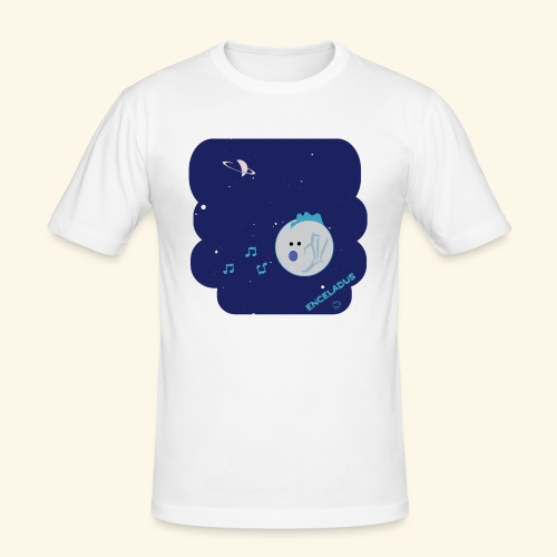 Enceladus punk rock moon of Saturn - Slim Fit T-shirt herr