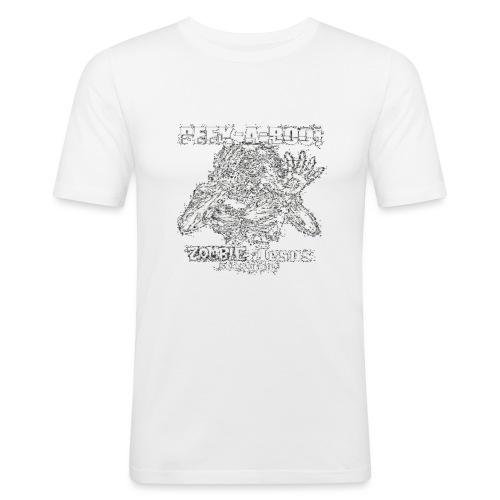 peek a boo zombie Jesus sees you - Men's Slim Fit T-Shirt
