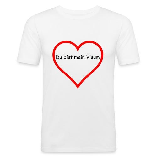 Du bist mein Visum - Männer Slim Fit T-Shirt