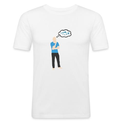 Man i tankar: Fisk - Slim Fit T-shirt herr