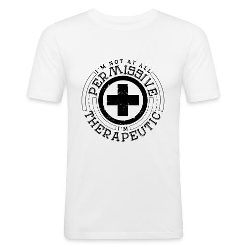 I'm Not Permissive (White) - Men's Slim Fit T-Shirt