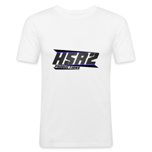 T-shirt met logo - Mannen slim fit T-shirt