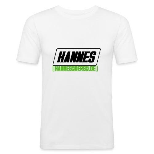 Hannes Logo - Männer Slim Fit T-Shirt