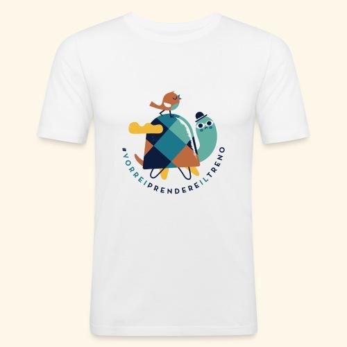 Tartaruga e uccellino - Maglietta aderente da uomo