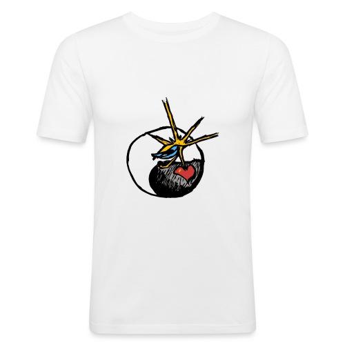 Mindfackt logo - Miesten tyköistuva t-paita