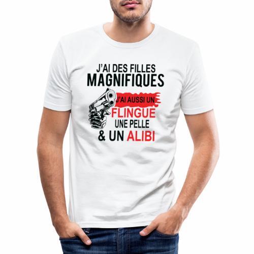 J'AI DEUX FILLES MAGNIFIQUES Best t-shirts 25% - T-shirt près du corps Homme