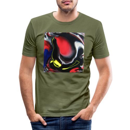 TIAN GREEN Mosaik DK007 - Vortex - Männer Slim Fit T-Shirt